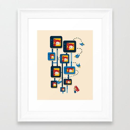 Me, Myself, and Some Birds Framed Art Print