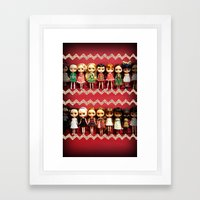 Collection dolls Framed Art Print