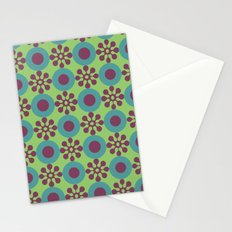 Retro Modern Flower Power Stationery Cards