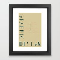 Graphic Design Framed Art Print