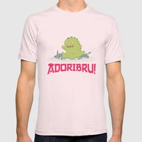 Adoribru! Mens Fitted Tee Light Pink SMALL