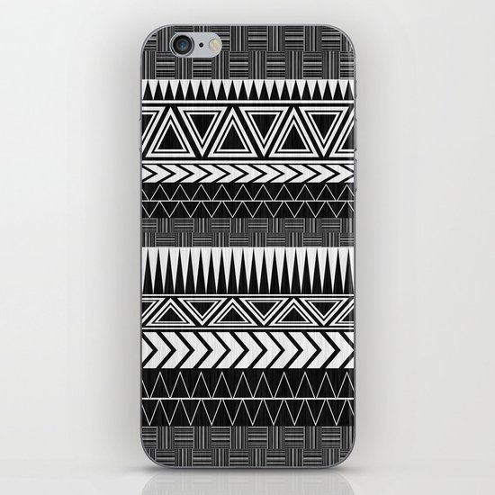 Tribal Monochrome. iPhone & iPod Skin