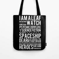 Firefly Subway Poster Tote Bag