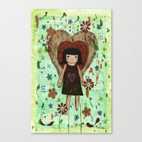 Broken girl Canvas Print