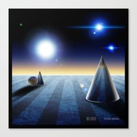 The fourth dimension in the 80's Canvas Print