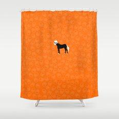 Skullhead Unicorn Shower Curtain
