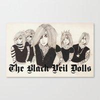 The Black Veil Dolls Canvas Print