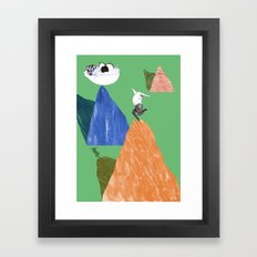 Reaching for the healthy options Framed Art Print
