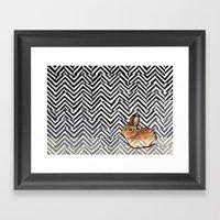 Little Miss Sarah Framed Art Print
