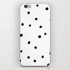 Black Dots on White iPhone & iPod Skin
