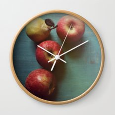 Autumn Apples Wall Clock