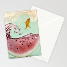 watermelon goldfish 02 Stationery Cards
