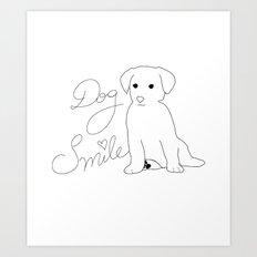 Dog Smile Art Print