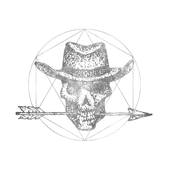 Dead Sheriff Greyscale Art Print