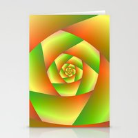 Spiral In Yellow Orange … Stationery Cards