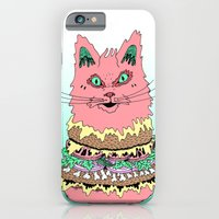 iPhone & iPod Case featuring BURGERCAT by Michael Todd Berland