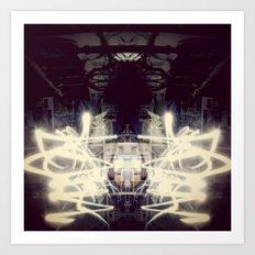Lights & Mirrors Art Print