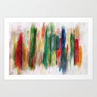 Acryl-Abstrakt 47 Art Print