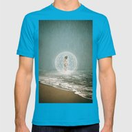 Tide Mens Fitted Tee Teal SMALL