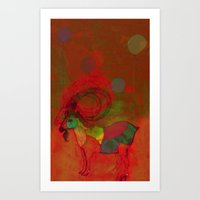 peaceful and happy Art Print