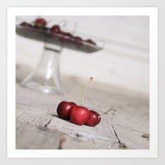 Three Lucky Cherries Art Print