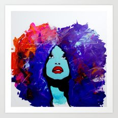 afro color Art Print