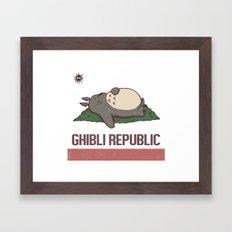 Ghibli Republic Framed Art Print
