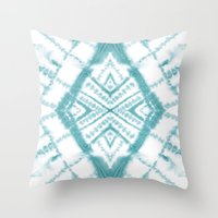 Dye Diamond Sea Salt Throw Pillow