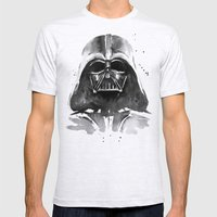 Darth Vader Mens Fitted Tee Ash Grey SMALL
