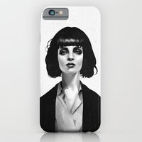 portrait iPhone & iPod Cases featuring Mrs Mia Wallace by Ruben Ireland