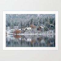 Winter Lake Art Print