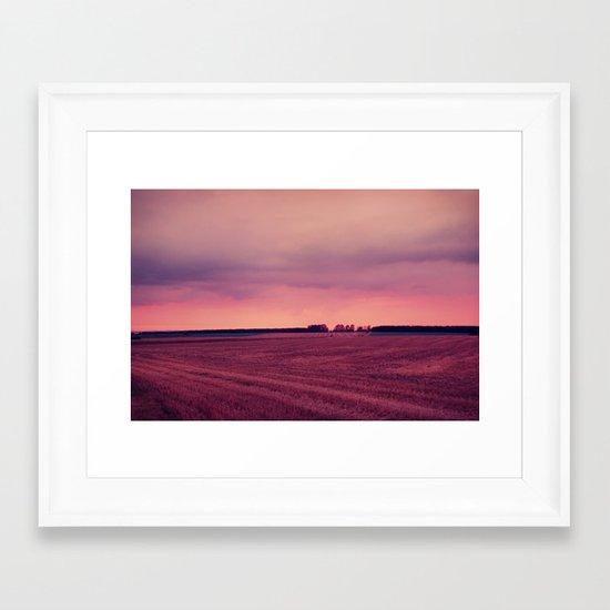 summer end Framed Art Print