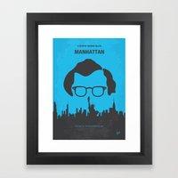 No146 My Manhattan Minim… Framed Art Print