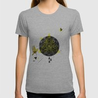 YELLOW Womens Fitted Tee Athletic Grey SMALL