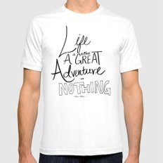 Great Adventure White SMALL Mens Fitted Tee