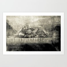 Live and Explore Mountains Art Print