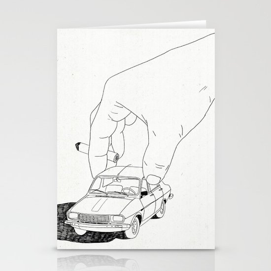 Driving home Stationery Card