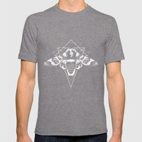 Geometric Moth 2 Mens Fitted Tee Tri-Grey SMALL