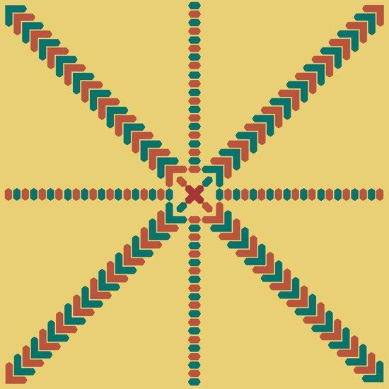 X Marks the Center Canvas Print