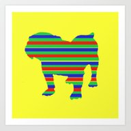 Bulldog Stripe Art Print