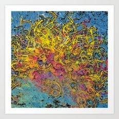 Painterly Ball of Yarn Art Print