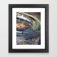 Forgotten Wheel Framed Art Print