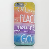 Oh the places you'll go - Watercolor calligraphy iPhone 6 Slim Case