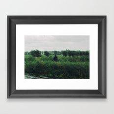 WIND BIKE WATER RAIN Framed Art Print