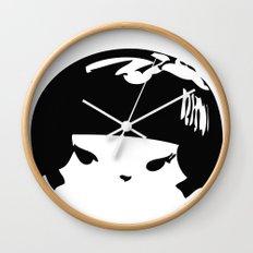 Kokeshi Head Logo Design Wall Clock