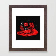 First we take Manhattan, Then we take Mars Framed Art Print