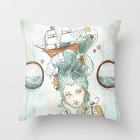 Pirate Princess Throw Pillow