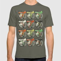 Folded Brompton Bicycle Mens Fitted Tee Lieutenant SMALL