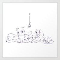 Cat's Art Print