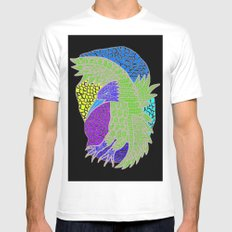 Flying Bird SMALL White Mens Fitted Tee